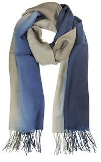 Mila Schon Women's Blue Wool Scarf.