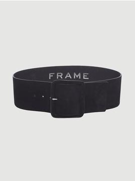 Frame Wide Wrapped Suede Belt