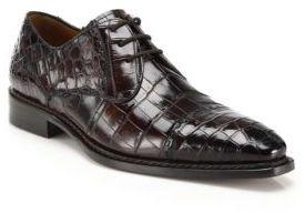 Mezlan Cotto Crocodile Captoe Derby Shoes