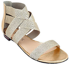 Sole Society As Is Stretch Criss Cross Strap Sandals - Aggie