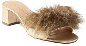 Banana Republic Mid Heel Faux Fur Slide