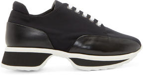 Pierre Hardy Black Neoprene Turbo Sneakers