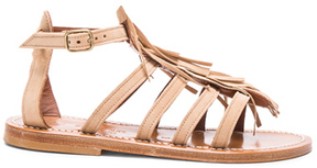 K. Jacques Suede Fregate Sandals in Neutrals.