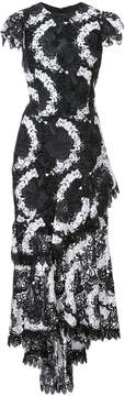 Christian Siriano long embroidered lace dress