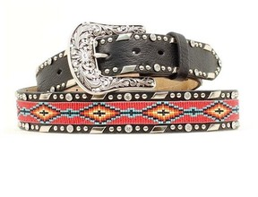 Ariat Western Belt Womens Beaded Ribbon Inset A1515401