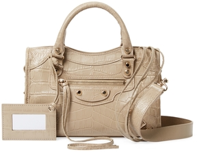 Balenciaga Women's Classic City Mini Embossed Leather Satchel