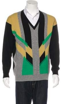 Bottega Veneta Cashmere & Wool Knit Graphic Sweater