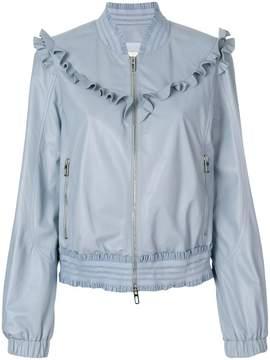 Drome frill trim bomber jacket