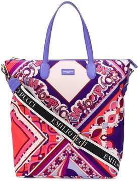 Emilio Pucci abstract print tote bag