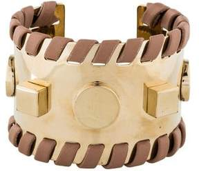 Tod's Woven Leather & Studded Cuff