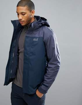 Jack Wolfskin Echo 3 in 1 Jacket in Navy