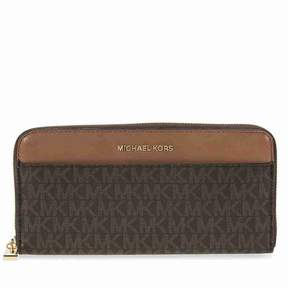 Michael Kors Mercer Signature Logo Wallet - Brown - AS SHOWN - STYLE