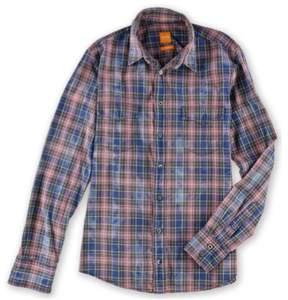 HUGO BOSS Mens Long Sleeve Flap-Pocket Button Up Shirt Multicoloured S