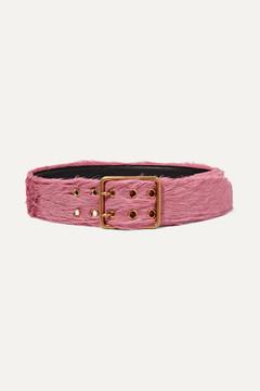 Prada Calf Hair Belt - Pink