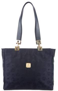 MCM Leather-Trimmed Nylon Tote