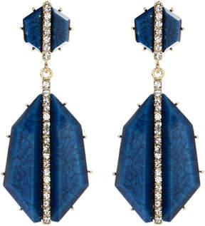 Amrita Singh Lapis Art Deco Drop Earrings