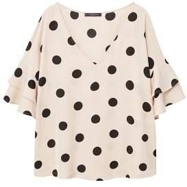 Violeta BY MANGO Ruffles printed blouse