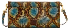 Dooney & Bourke City Python Crossbody Clutch Shoulder Bag - BLUE - STYLE