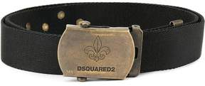 DSQUARED2 logo engraved buckle belt