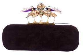 Alexander McQueen Crystal-Embellished-Skull Knuckle Clutch