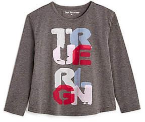 True Religion TODDLER/LITTLE KIDS GRAPHIC LONG SLEEVE SHIRT