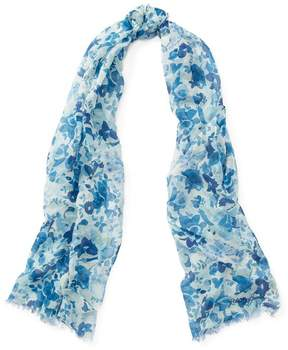 Polo Ralph Lauren | Butterfly-Floral-Print Scarf | Blue butterfly