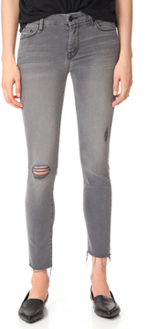 Mother Looker Skinny Ankle Fray Jeans