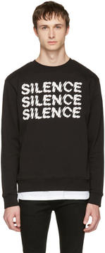 McQ Black Silence Clean Sweatshirt