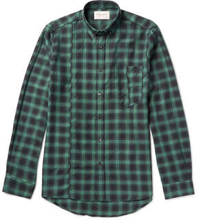 Public School Retor Slim-Fit Button-Down Collar Checked Cotton-Twill Shirt