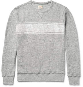 Faherty Striped Cotton-Terry Sweatshirt