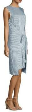 Peserico Striped Tie Front Dress