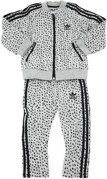 Dots Cotton Sweatshirt & Sweatpants