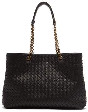 Bottega Veneta Intrecciato Medium Leather Tote - Womens - Black
