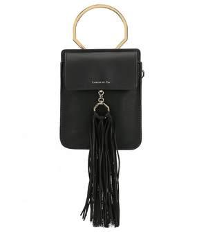 Louise et Cie Julea Tasseled Ring Handle Bracelet Mini Bag