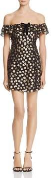 For Love & Lemons Lottie Ruffle Off-the-Shoulder Mini Dress