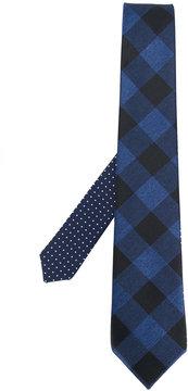 Canali diamond embroidered tie