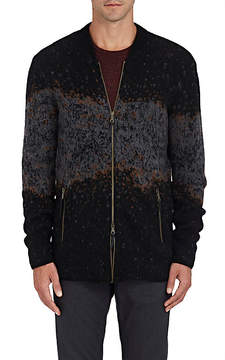 John Varvatos Men's Intarsia-Knit Wool-Cashmere Zip-Front Sweater