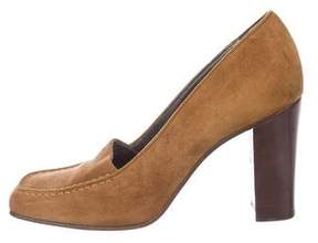 Walter Steiger Suede Square-Toe Pumps