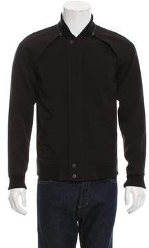 Alexander Wang Rib Knit-Trimmed Removable Sleeve Jacket