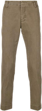 Entre Amis classic fitted chino trousers