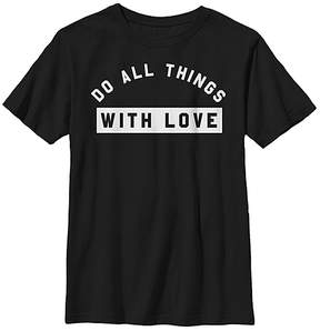Fifth Sun Black 'Do All Things with Love' Crewneck Tee - Youth