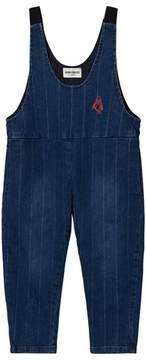 Bobo Choses Pin Stripe Baggy Denim Dungarees