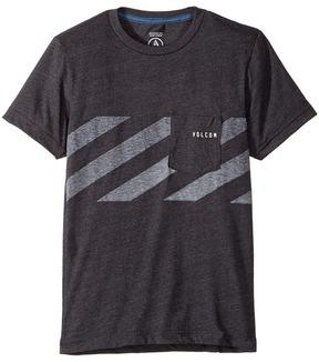 Volcom Macaw Stripe Short Sleeve Boy's T Shirt