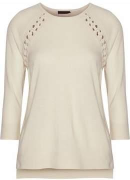 Belstaff Lattice-Trimmed Knitted Top