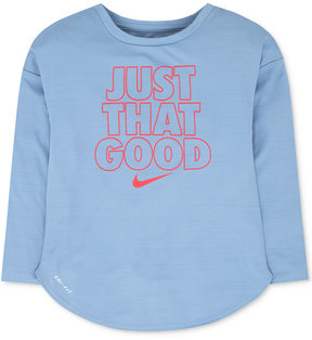 Nike Text-Graphic Long-Sleeve T-Shirt, Toddler Girls (2T-5T)