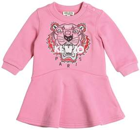 Kenzo Tiger Embroidered Cotton Dress