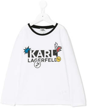 Karl Lagerfeld logo printed top