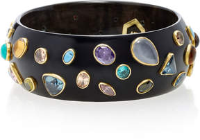 Ashley Pittman Urujuani Dark Horn Multi-Stone Bangle