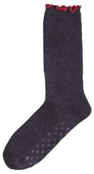 Hue Quilted Pajama Socks