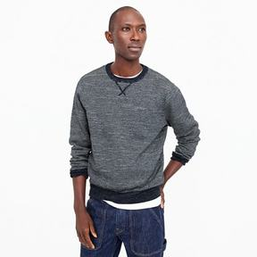 J.Crew Textured cotton crewneck sweater in stripe